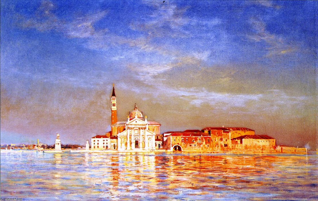 San Giorgio Maggiore by Gilbert Munger (1837-1903, United States) | Famous Paintings Reproductions | WahooArt.com