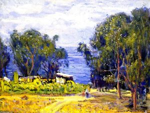 Joseph Kleitsch - Shacks, Laguna Beach (also known as Old Laguna - Foot of Anita Street)