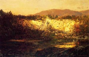 William Louis Sonntag - Shadows Rising and Sun Setting, New Hampshire