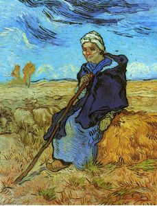Vincent Van Gogh - The Shepherdess (after Millet)