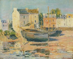 Gustave Loiseau - Ships at Port
