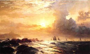 Edward Moran - Ships at Sea