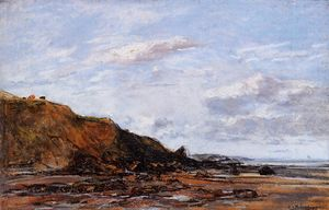Eugène Louis Boudin - The Shore (also known as Near Honfleur)