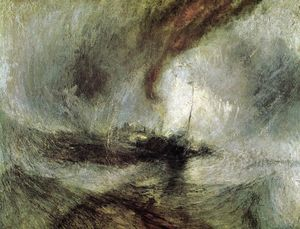 William Turner - Show Storm - Seam-Boat off a Harbour-s Mouth Making Signals in Shallow Water, and Going by the Lead. The Author was in this Storm on the Night the Ariel Left Harwich