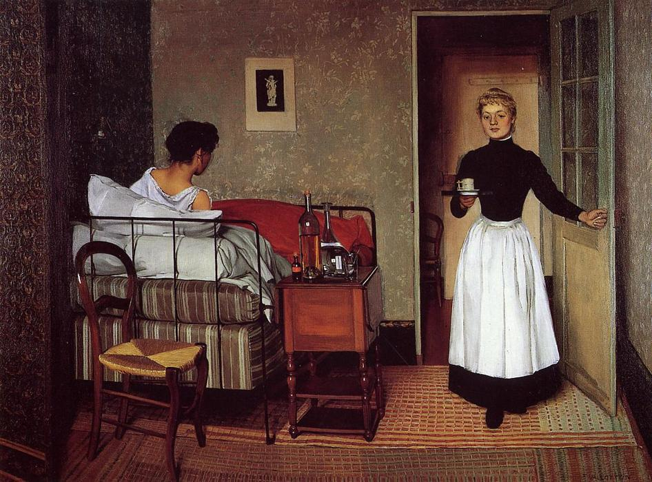 The Sick Girl, 1892 by Felix Vallotton (1865-1925, Switzerland) | Museum Quality Reproductions | WahooArt.com