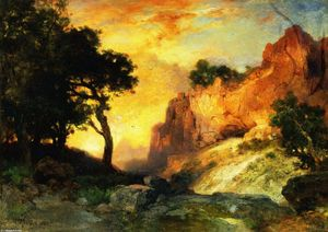 Thomas Moran - A Side Canyon, Grand Canyon, Arizona