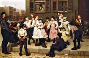 John George Brown - The Sidewalk Dance (also known as A Sidewalk Dance)