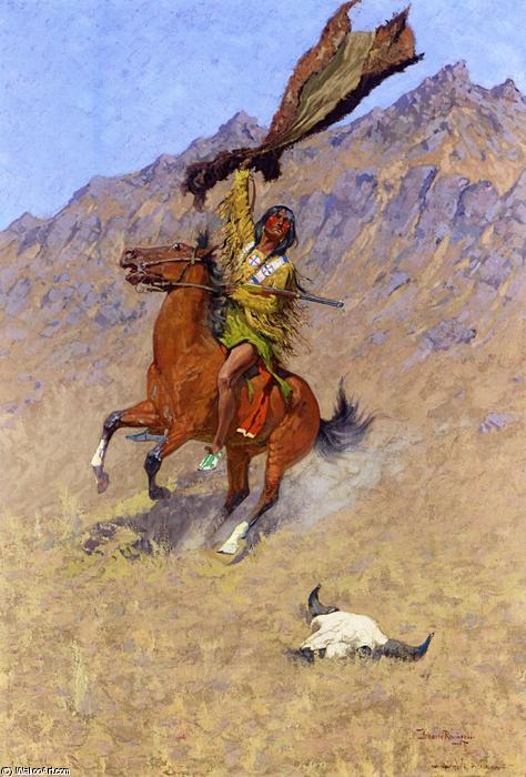 The Signal (also known as If Skulls Could Speak), Oil On Canvas by Frederic Remington (1861-1909, United States)
