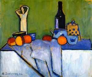 Alexej Georgewitsch Von Jawlensky - Sill LIfe with Figure