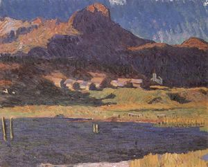 Giovanni Giacometti - Silsersee with view of Maloja