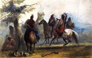 Alfred Jacob Miller - Sioux Setting Out on an Expedition to Capture Wild Horses
