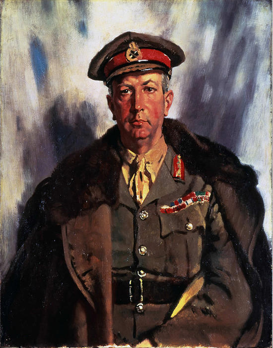 Sir Arthur Currie, Oil On Canvas by William Newenham Montague Orpen (1878-1931, Ireland)