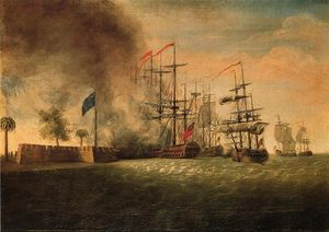 James Peale - Sir Peter Parker's Attack Against Fort Moultrie
