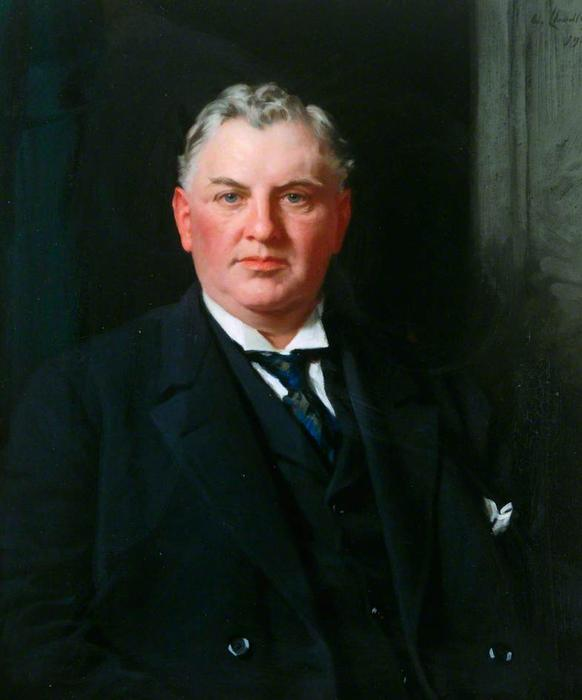 Sir William C. Gray, Oil On Canvas by Samuel Henry William Llewellyn