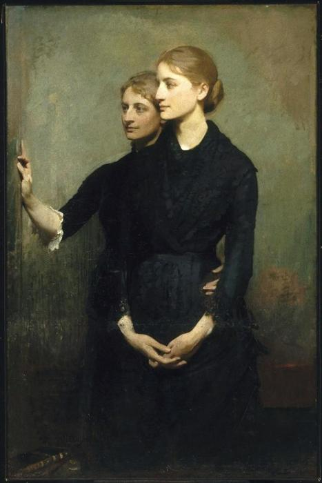 The Sisters, 1884 by Abbott Handerson Thayer (1849-1921, United States)