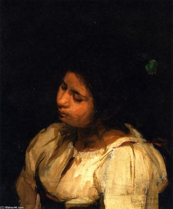 Sister Sarah, 1881 by Henry Ossawa Tanner (1859-1937, United States) | Famous Paintings Reproductions | WahooArt.com