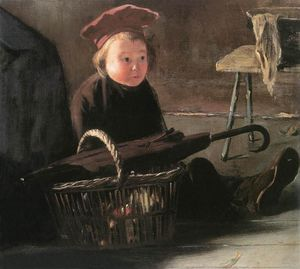 Jozsef Rippl Ronai - Sitting Child with Basket