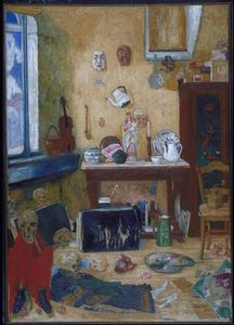 James Ensor - Skeletons in the Studio