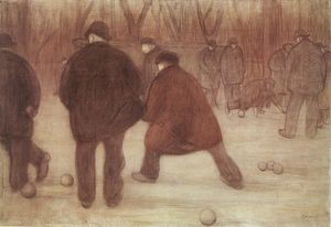 Jozsef Rippl Ronai - Skittle-players