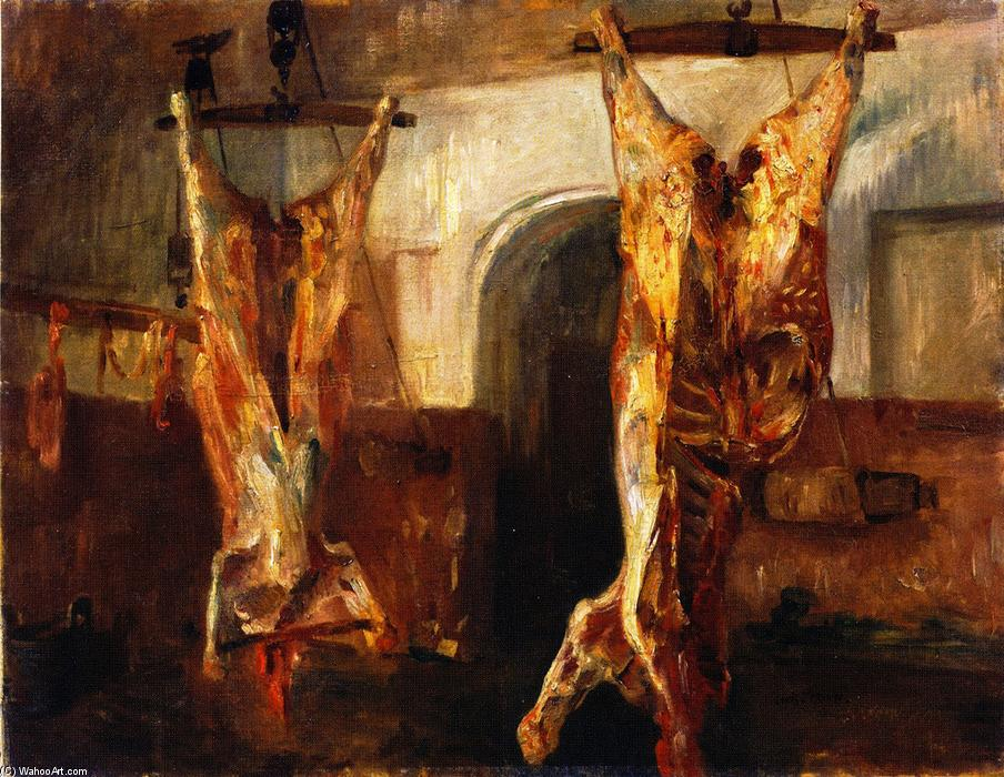 Slaughtered Calves, Oil On Canvas by Lovis Corinth (Franz Heinrich Louis) (1858-1925, Netherlands)