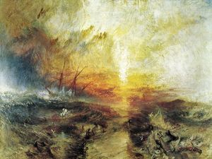 William Turner - Slavers Throwing Overboard the Dead and Dying - Typhon Coming on