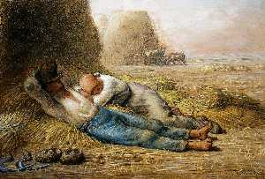 Jean-François Millet - Sleeping peasants (also known as Noonday Rest)