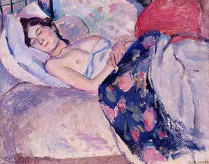 Julius Mordecai Pincas - Sleeping Woman