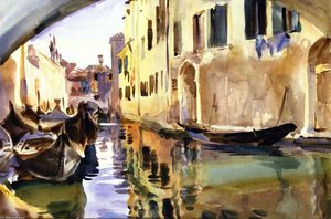 John Singer Sargent - A Smal Canal, Venice