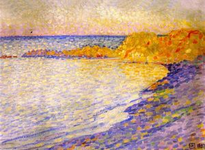 Theo Van Rysselberghe - Small Beach at Saint-Tropez (also known as Petit plage à St-Tropez)