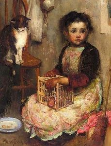 Walter Frederick Osborne - Small Girl With A Cat