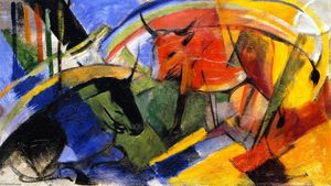 Franz Marc - Small Picture with Cattle