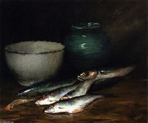 William Merritt Chase - A Small Pile of Fish
