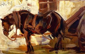 Franz Marc - Small Study of a Horse II