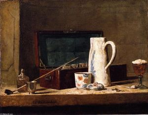 Jean-Baptiste Simeon Chardin - The Smoker-s Case (also known as Pipes and Drinking Vessel)