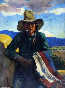 Mathias Joseph Alten - Smoking Apache, Taos, New Mexico