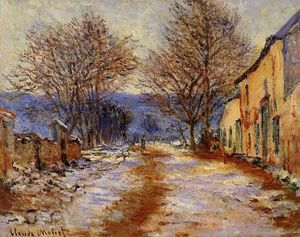 Claude Monet - Snow Effect at Limetz
