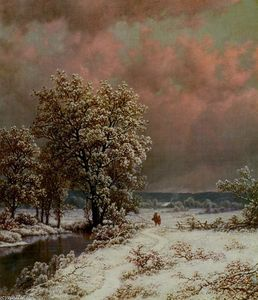 William Mason Brown - Snow Scene