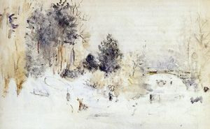 Berthe Morisot - Snowy Landscape (also known as Frost)