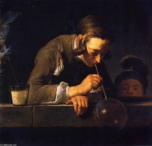 Jean-Baptiste Simeon Chardin - 'Soap Bubbles (also known as Young Man Blowing Bubbles)'