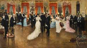 Jean Georges Béraud - Soiree in Hotel Caillebotte