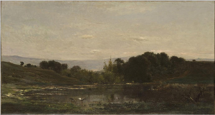 Solitude, 1869 by Charles François Daubigny (1817-1878, France)