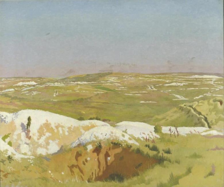 The Somme: A Clear Day, 1917 by William Newenham Montague Orpen (1878-1931, Ireland)