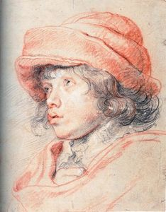 Peter Paul Rubens - Son Nicolas with a Red Cap