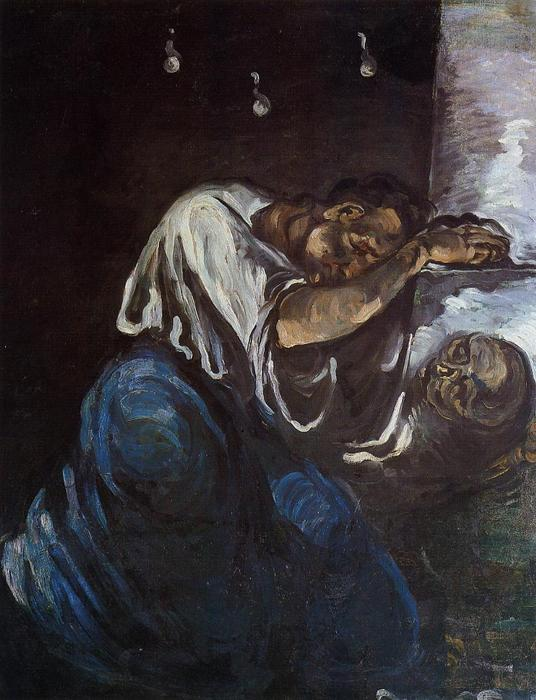 Order Famous Paintings Reproductions : Sorrow (also known as The Magdalen), 1867 by Paul Cezanne (1839-1906, France) | WahooArt.com