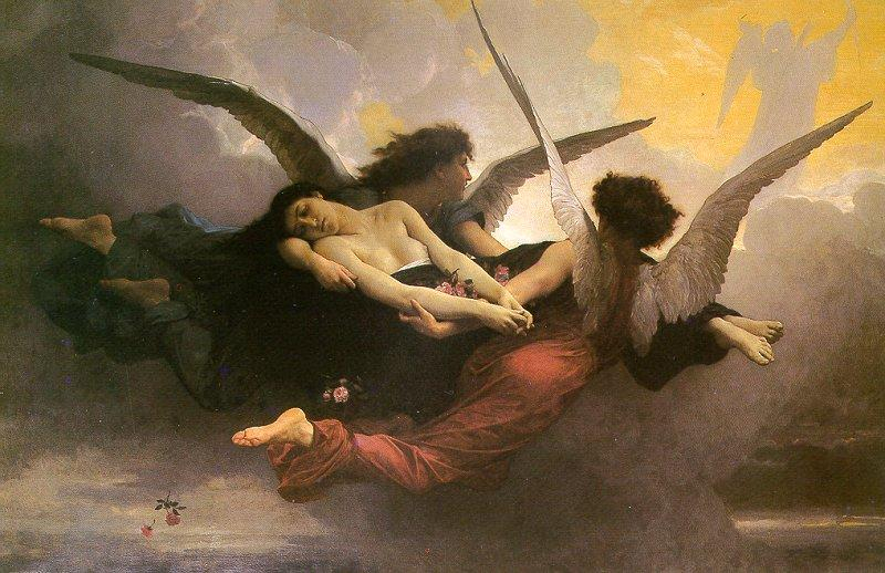 A Soul Brought to Heaven, Oil On Canvas by William Adolphe Bouguereau (1825-1905, France)