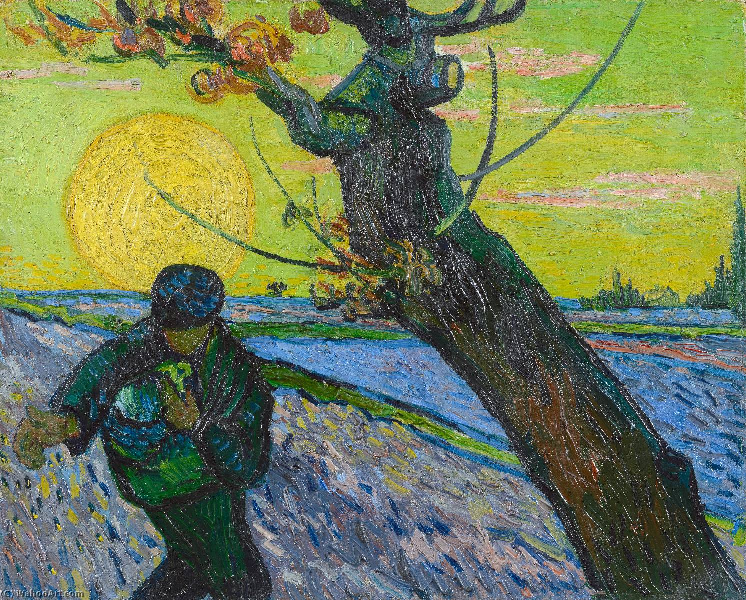 The Sower, 1888 by Vincent Van Gogh (1853-1890, Netherlands) | Oil Painting | WahooArt.com