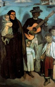 Emile Bernard - Spanish street musician and his family