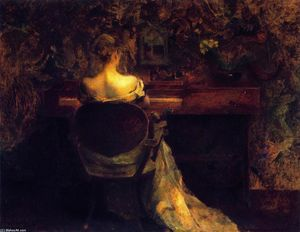 Thomas Wilmer Dewing - The Spinet (also known as Lady and S[pinet)