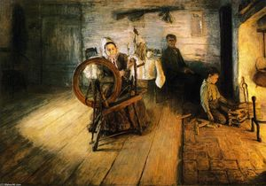Henry Ossawa Tanner - Spinning by Firelight - The Boyhood of George Washington Gray