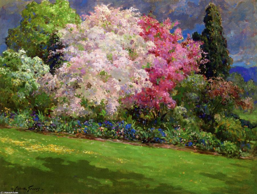 Spring Garden, Kennebunkport by Abbott Fuller Graves (1859-1936, United States) | Painting Copy | WahooArt.com